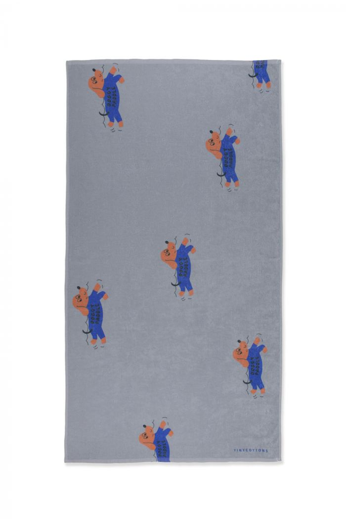 Tinycottons Doggy Paddle Towel Summer Grey/Iris Blue_1