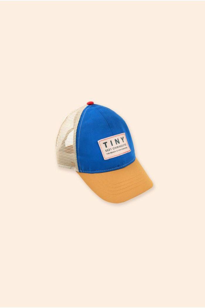 Tinycottons Color Block Tiny Cap Iris Blue/Honey_1