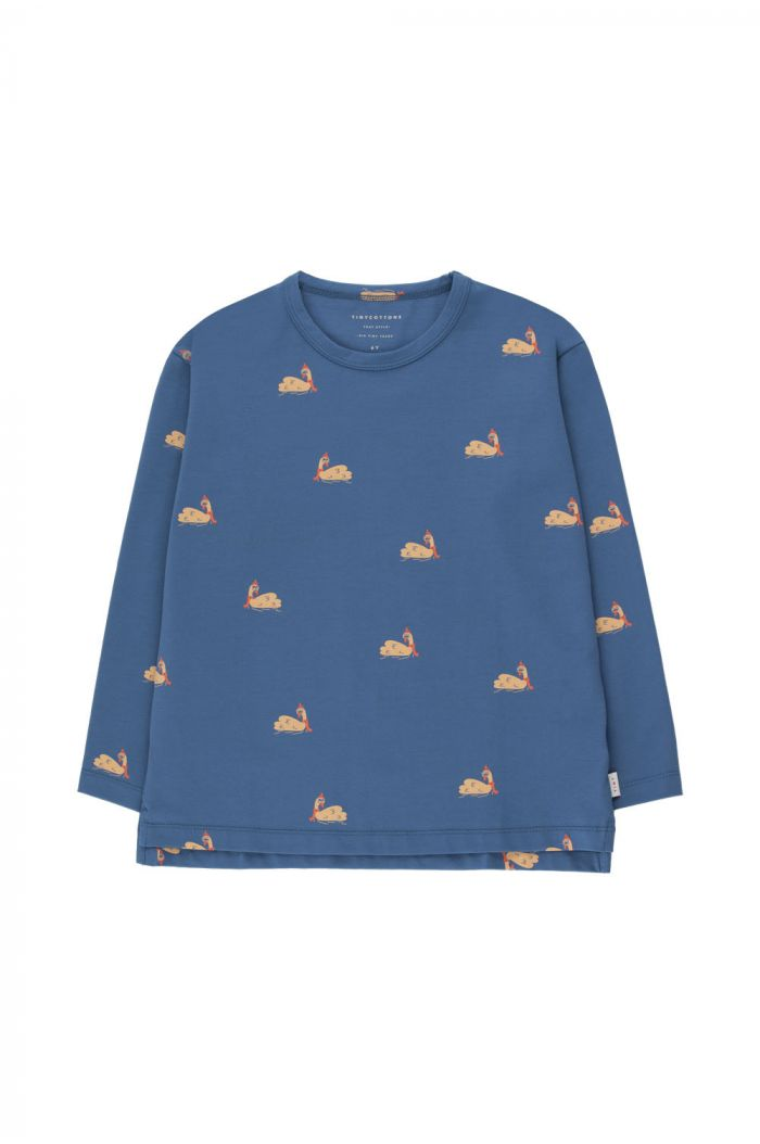 Tinycottons Swans Tee Soft Blue/Toffee_1
