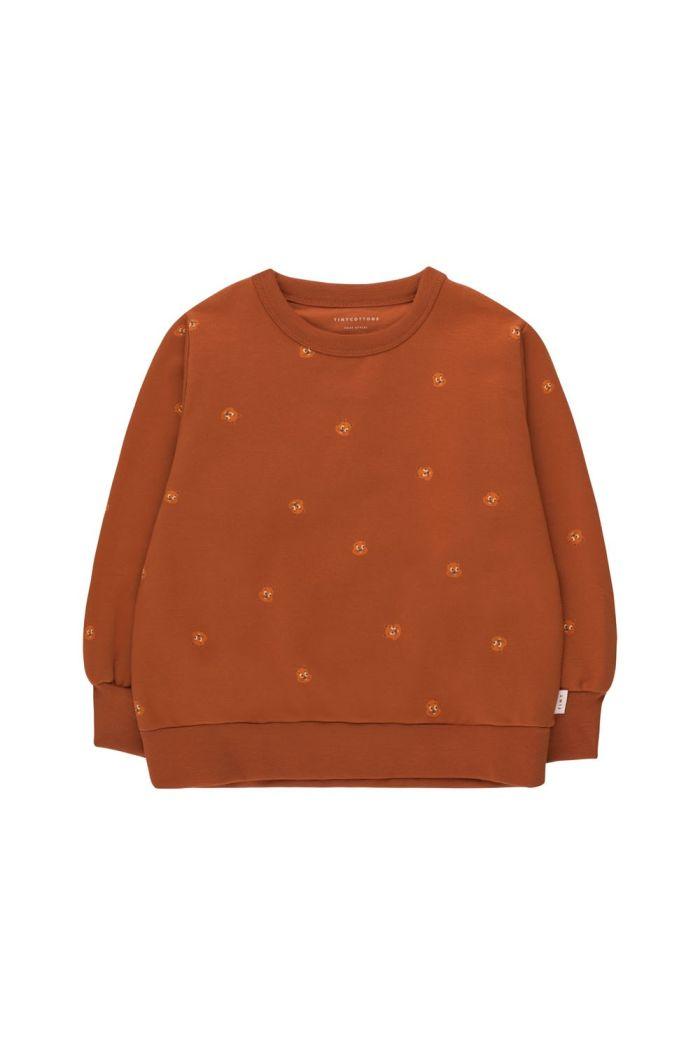 Tinycottons Squirrels Sweatshirt Dark Copper/True Brown_1