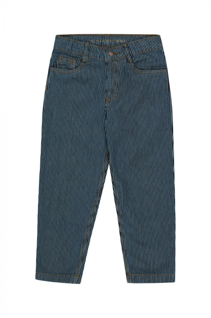 Tinycottons Stripes Denim Baggy Pant stripes denim_1