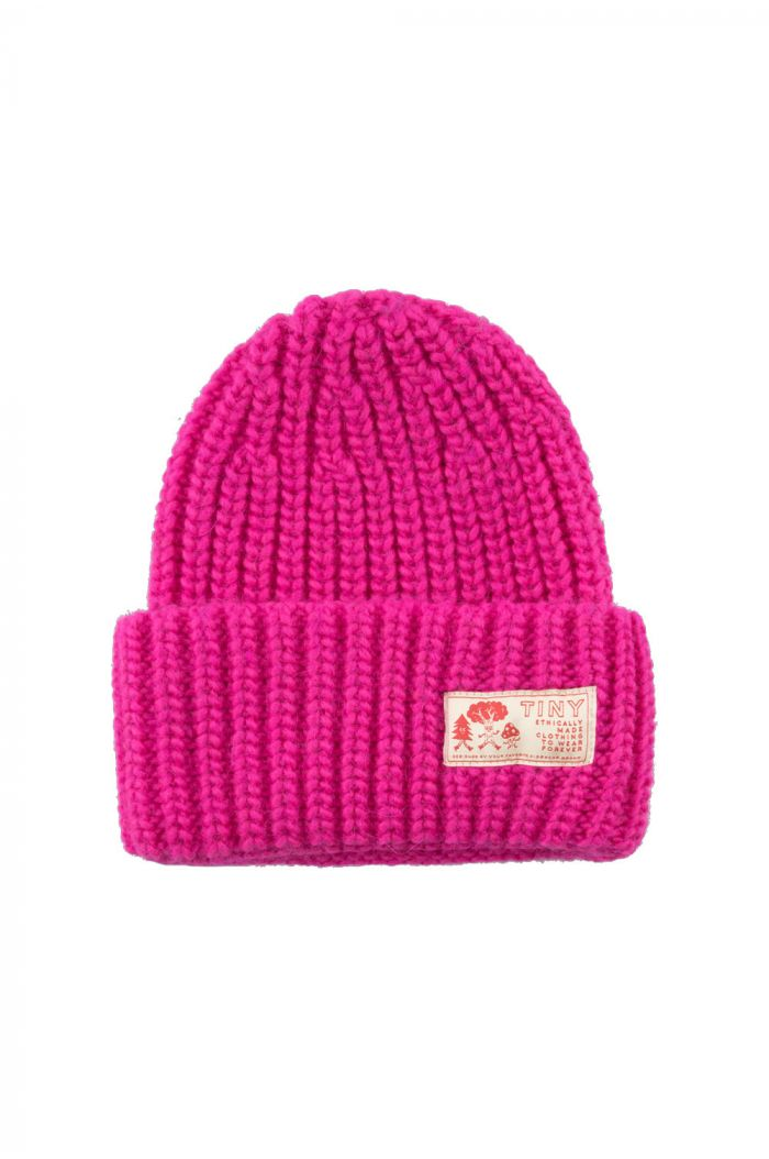 Tinycottons Solid Beanie Fucsia_1
