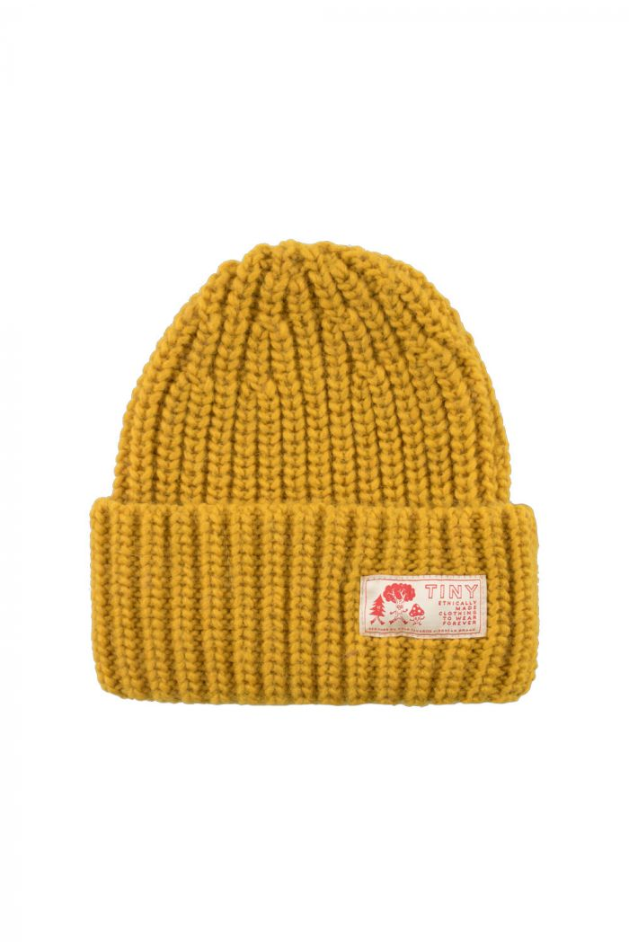 Tinycottons Solid Beanie Bamboo Yellow_1