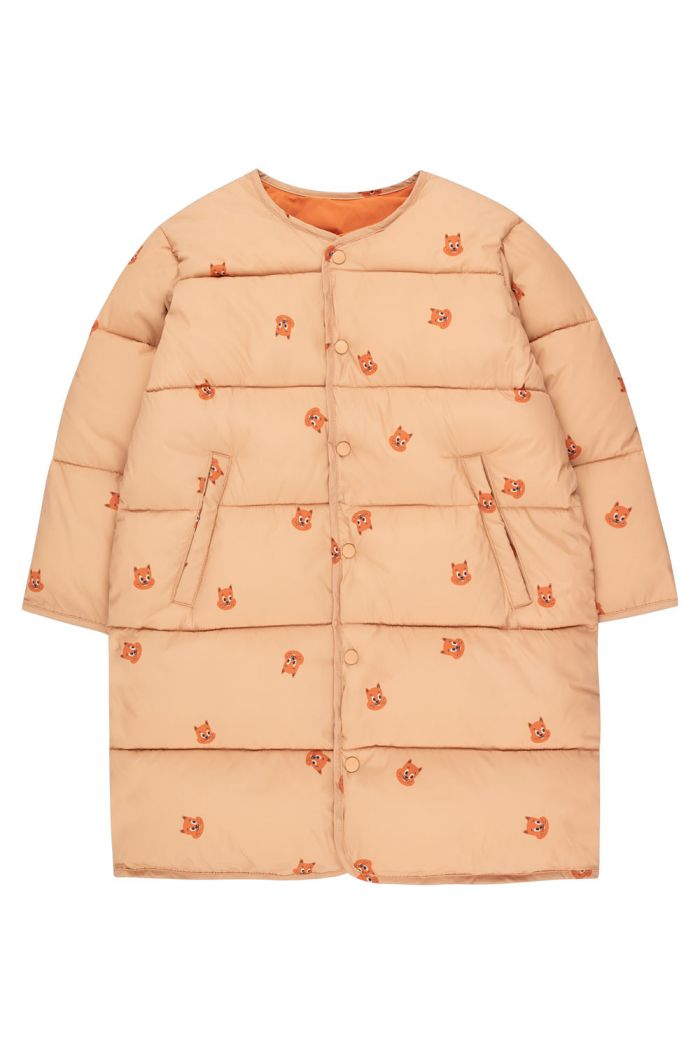 Tinycottons Squirrels Reversible Long Jacket Toffee/True Brown_1
