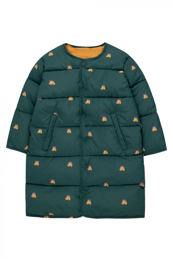 Tinycottons Dogs Reversible Long Jacket Stormy Blue/Honey_1