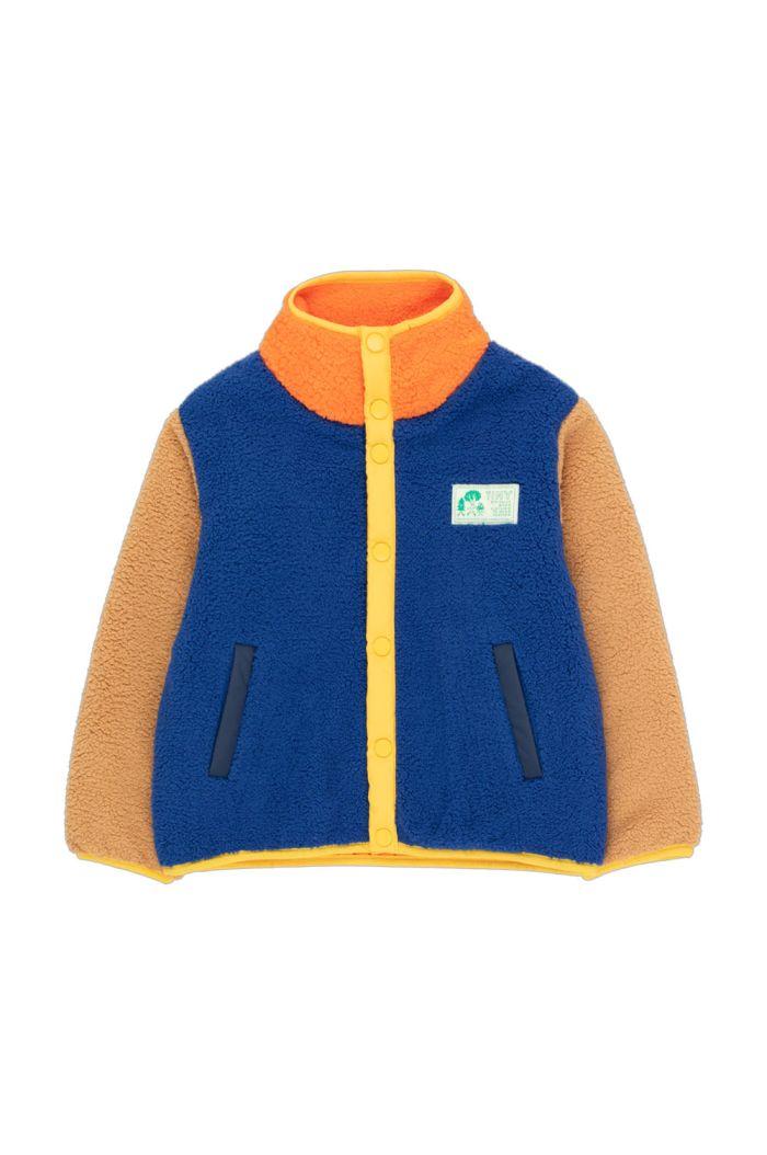 Tinycottons Color Block Polar Jacket Ultramarine/Clay_1