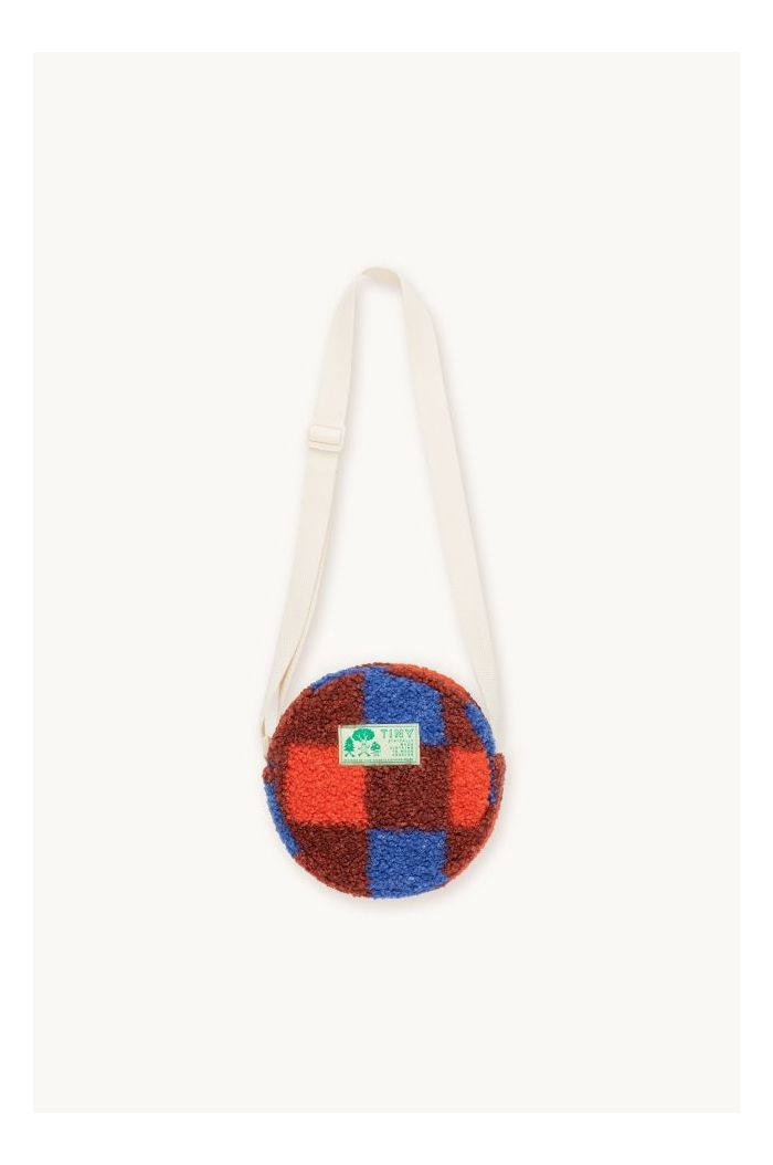 Tinycottons Check Sherpa Bag Red/Ultramarine_1