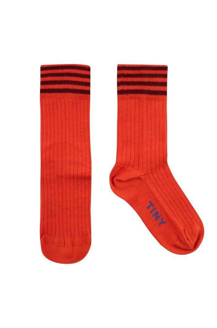 Tinycottons Stripes Medium Socks Red/Deep Plum_1