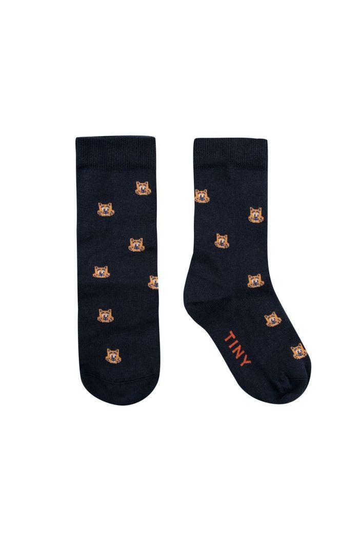 Tinycottons Squirrels Medium Socks Ink Blue/True Brown_1