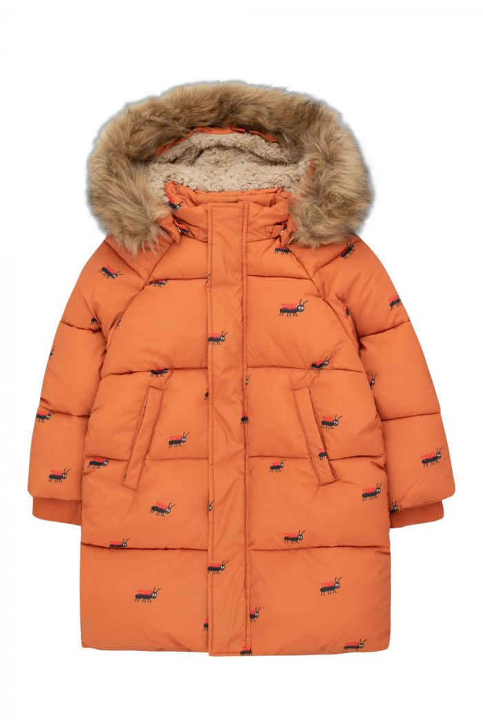 Tinycottons Ants Padded Jacket True Brown/Ink Blue_1