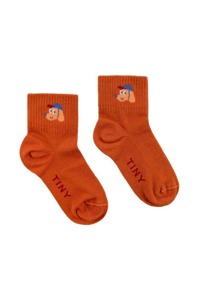 Tinycottons Dog Quarter Socks Honey/True Brown_1