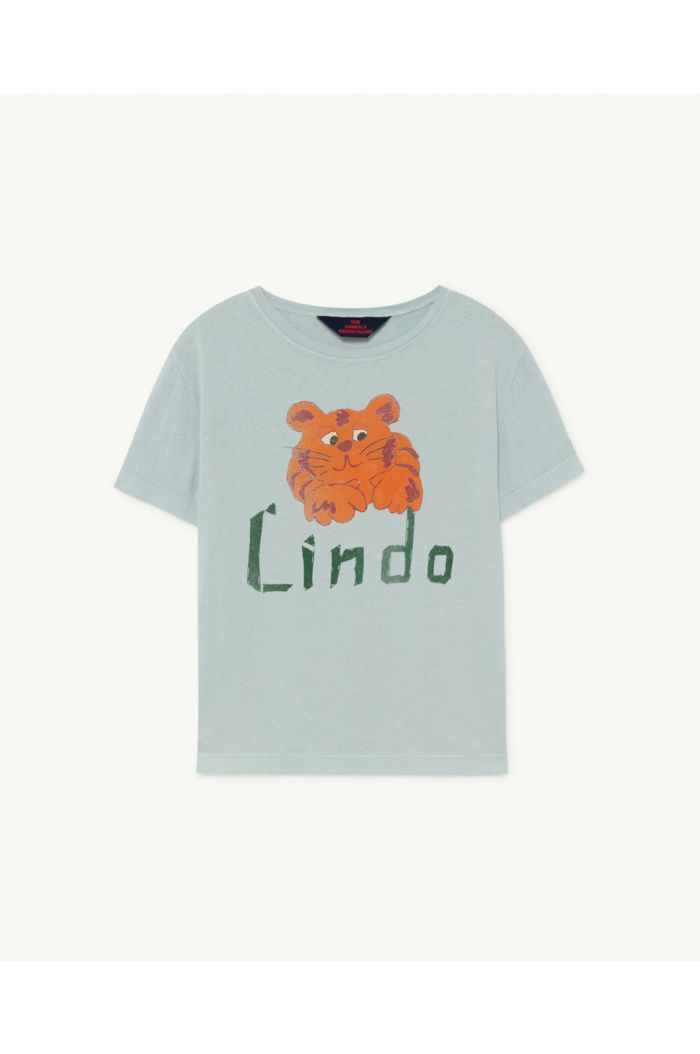The Animals Observatory Rooster Kids+ T-Shirt  Blue Lindo_1