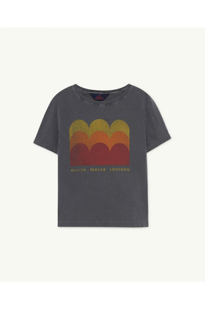 The Animals Observatory Rooster Kids+ T-Shirt  Black Molto_1
