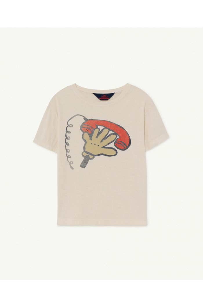 The Animals Observatory Rooster Kids+ T-Shirt  White Telephone_1