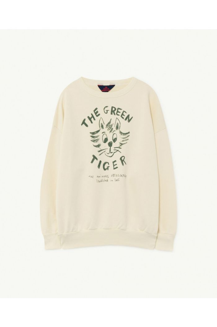 The Animals Observatory Big Bear Kids+ Sweatshirt White Tiger_1