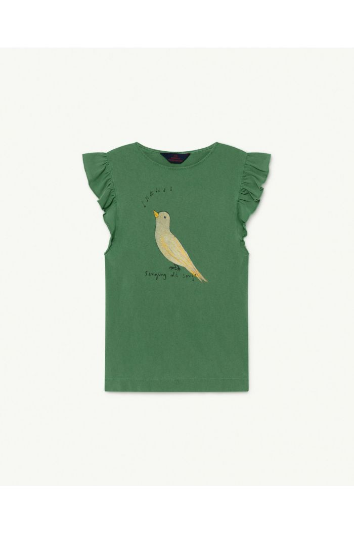 The Animals Observatory Fly Kids Dress Green Bird_1
