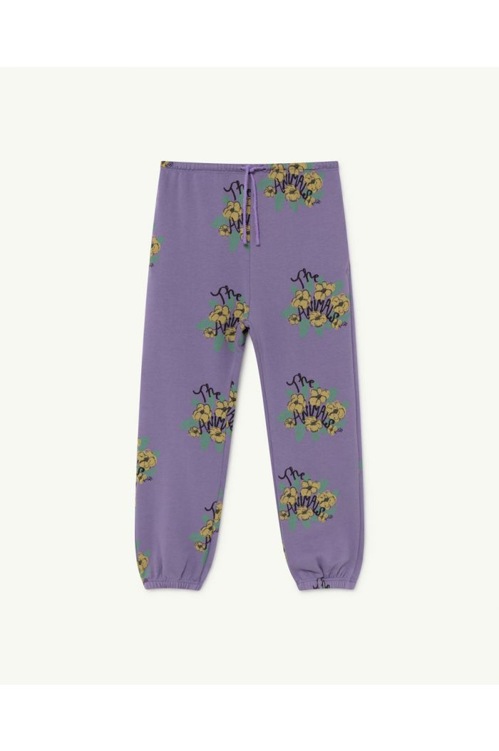 The Animals Observatory Dromedary Kids Trousers  Purple Flowers_1