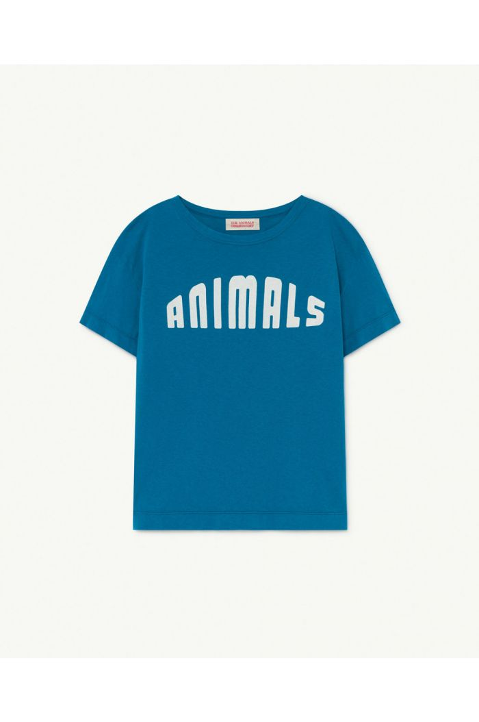The Animals Observatory Rooster Kids+ T-Shirt Blue Animals_1