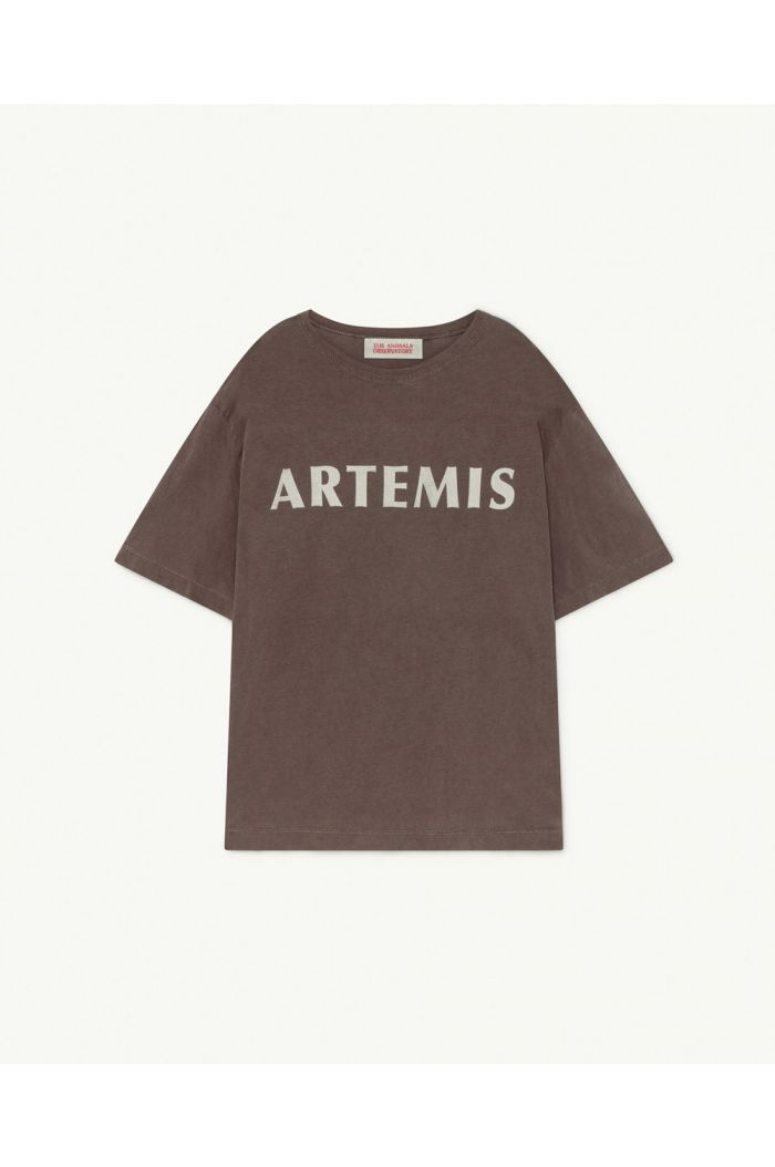 The Animals Observatory Rooster Oversize T-Shirt Deep Brown Artemis_1