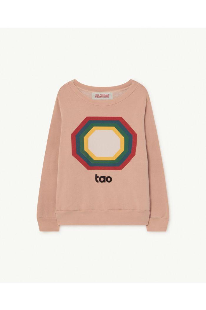 The Animals Observatory Bear Kids+ Sweatshirt Soft Pink Octogon_1