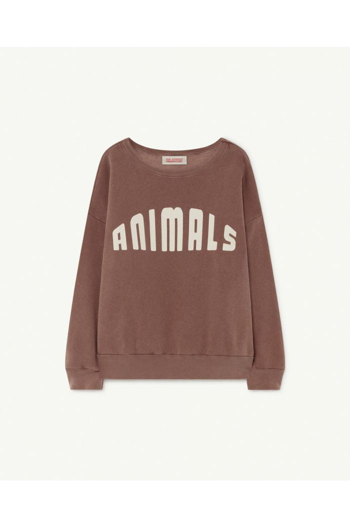 The Animals Observatory Big Bear Kids Sweatshirt Brown Animals_1