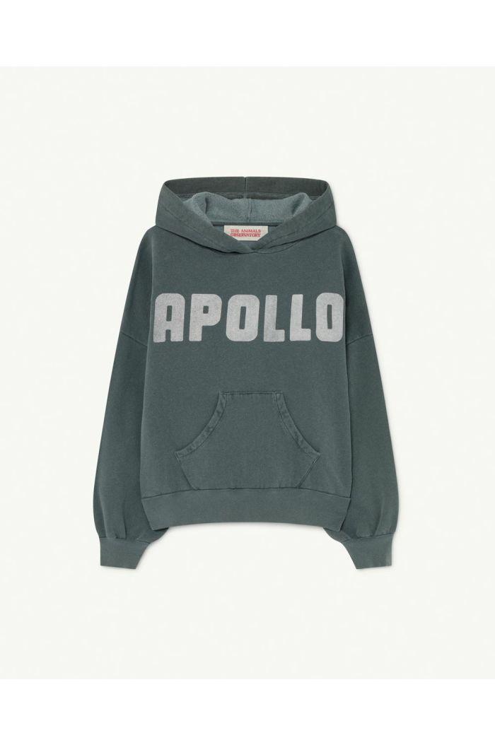 The Animals Observatory Beaver Kids Sweatshirt Deep Green Apollo_1