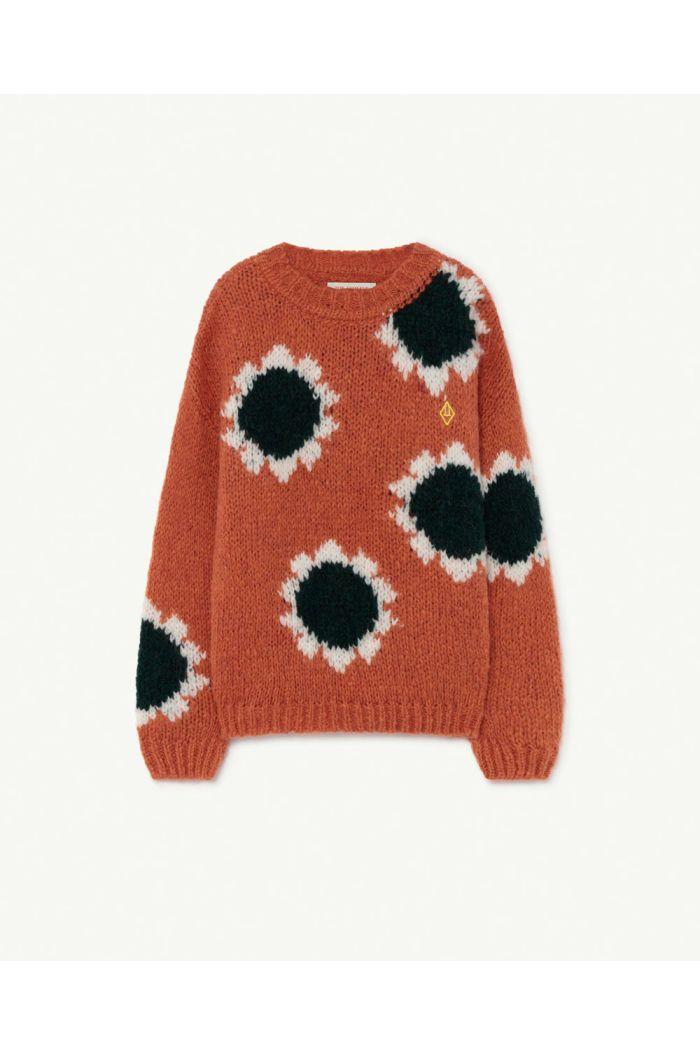 The Animals Observatory Flowers Bull Kids Sweater Orange Logo_1