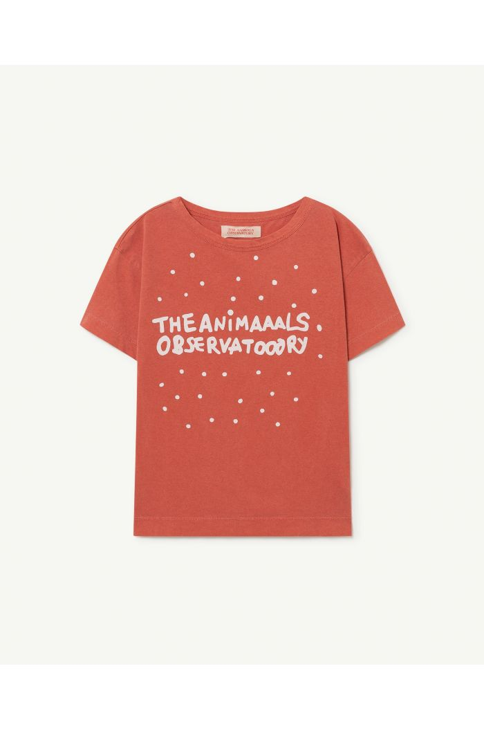 The Animals Observatory Rooster Kids+ T-Shirt Red The Animals_1