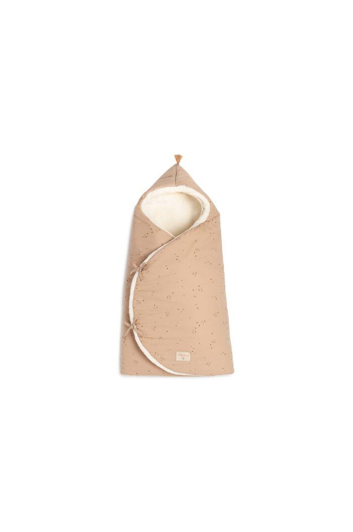 Nobodinoz Cozy Winter Baby Nest Bag 0-3M Willow Dune_1