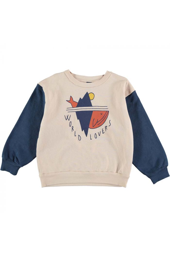 Bonmot Sweatshirt world lovers navy_1