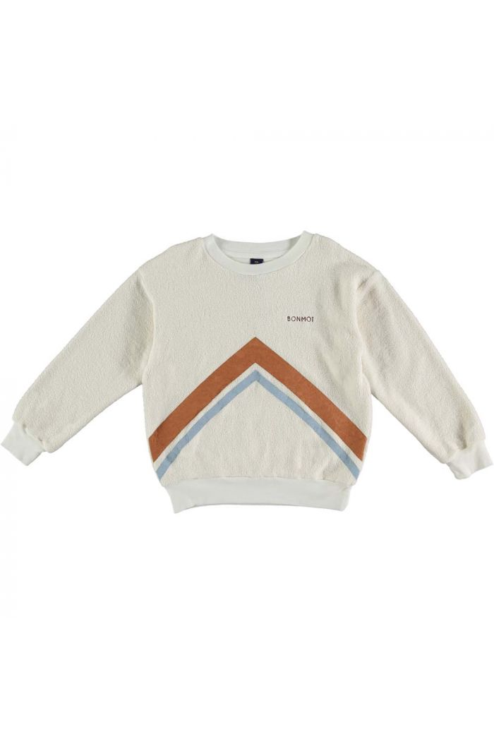 Bonmot Sweatshirt mountains Ecru_1