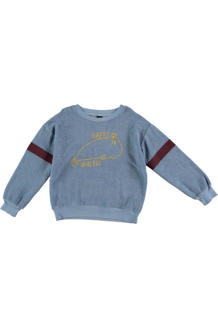 Bonmot Sweatshirt walrus Arctic blue_1