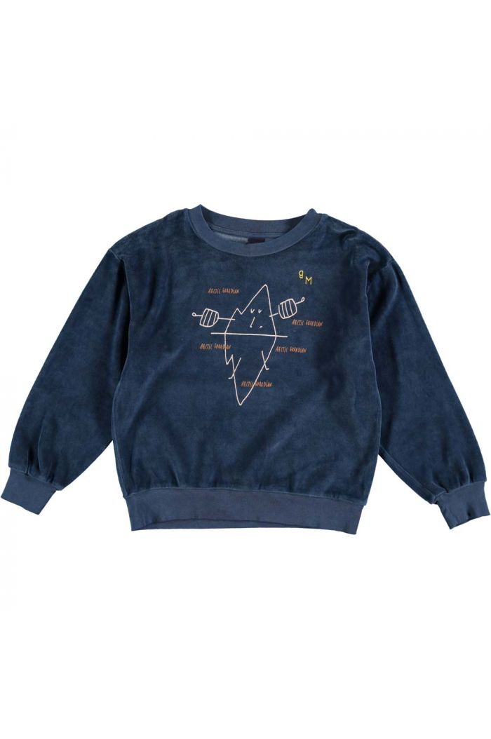 Bonmot Sweatshirt velvet guardian navy_1