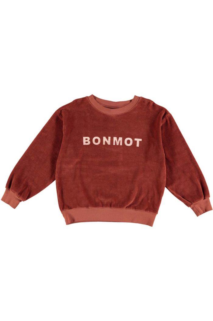 Bonmot Sweatshirt velvet bonmot Rust_1