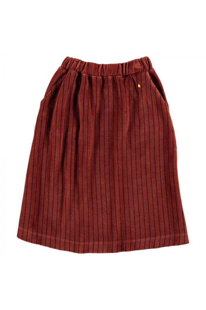 Bonmot Skirt velvet all over stripes Rust_1