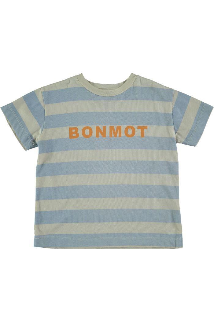 Bonmot T-shirt bonmot stripes ivory_1