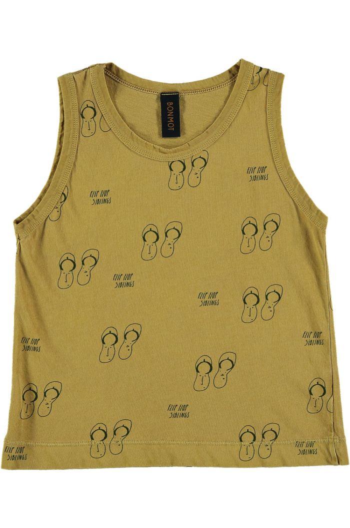 Bonmot Tank t-shirt  siblings Mustard_1
