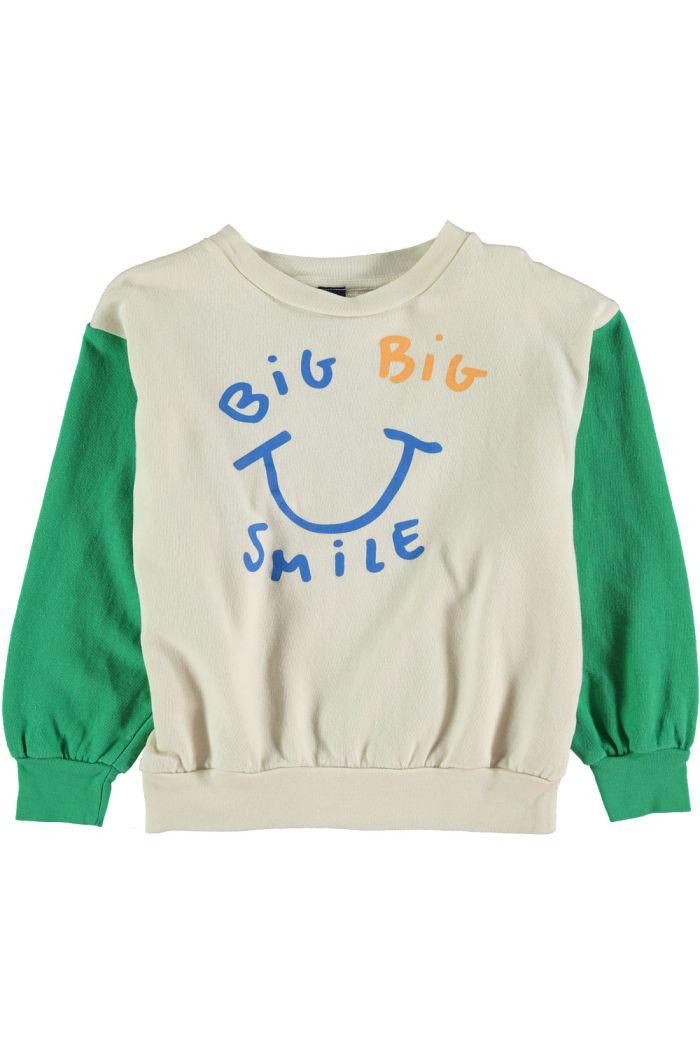 Bonmot Sweatshirt big smile Green _1
