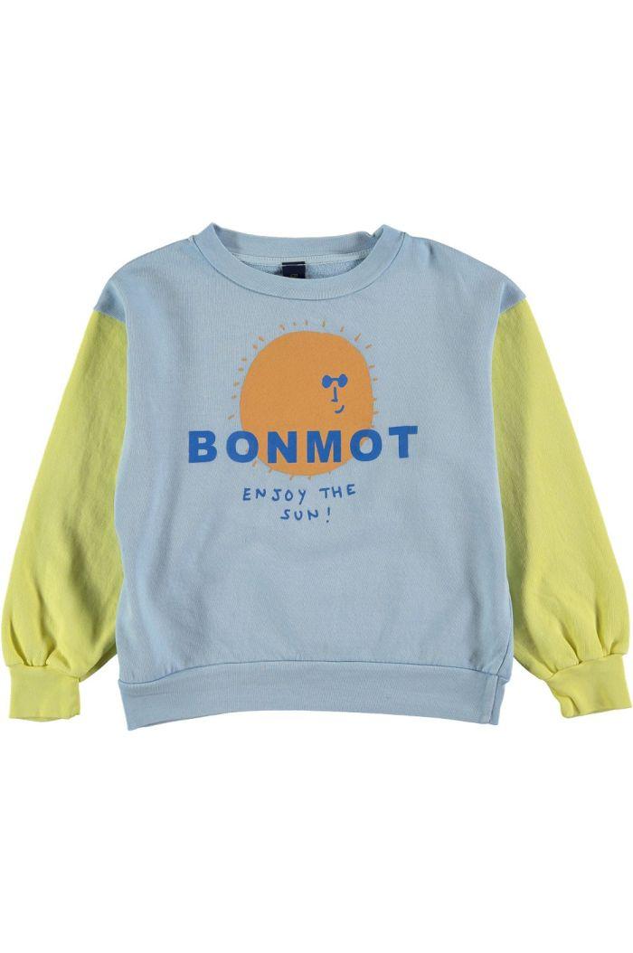 Bonmot Sweatshirt enjoy Sunshine Yellow_1