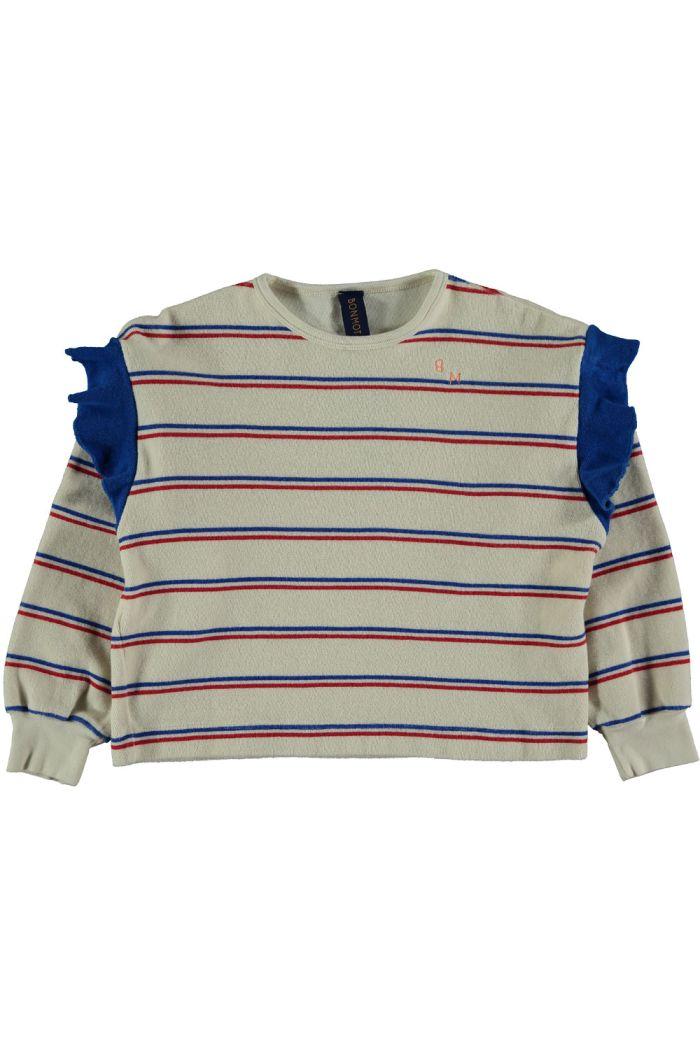 Bonmot Sweatshirt frill bistripe ivory_1