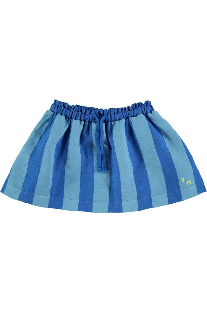 Bonmot Skirt linen wide stripe fresh blue_1