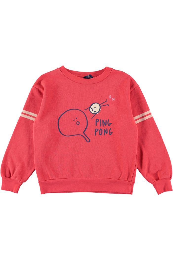 Bonmot Sweatshirt ping pong Red_1