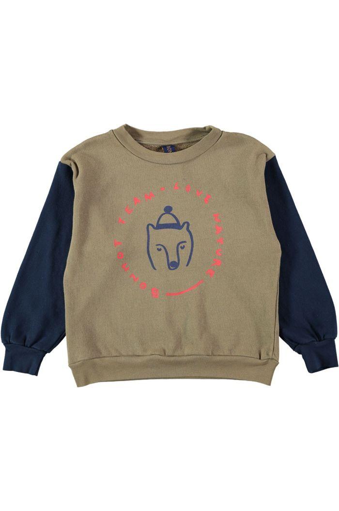 Bonmot Sweatshirt bear Taupe_1