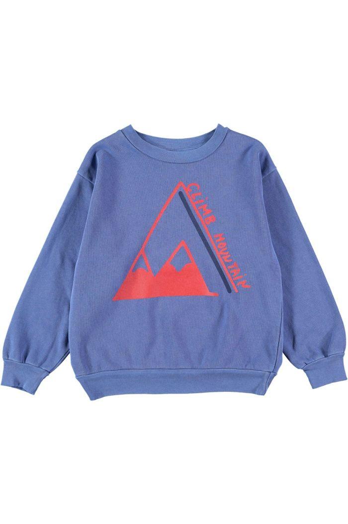 Bonmot Sweatshirt climb  Sea blue_1