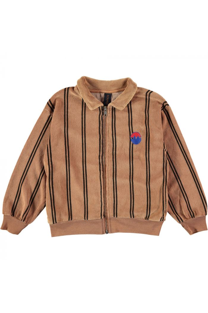 Bonmot Sweatshirt cardigan bistripe  Wood_1