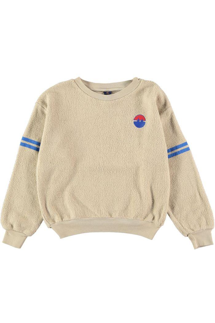 Bonmot Sweatshirt sleeve stripes  Fog_1