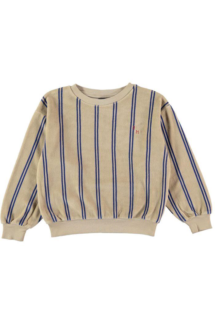 Bonmot Sweatshirt velvet stripes  Fog_1