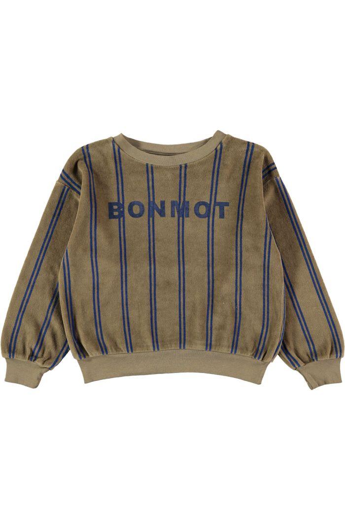 Bonmot Sweatshirt velvet bonmot Taupe_1