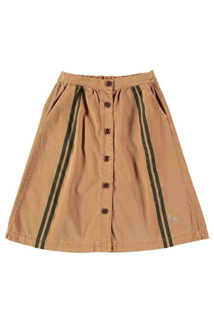 Bonmot Long skirt side stripes Wood_1