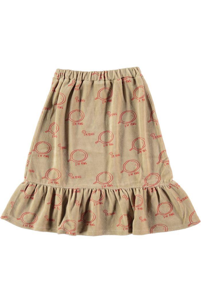 Bonmot Velvet bottom frill skirt  Fog_1